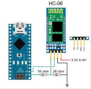 Figure 12 : Connexion module Bluetooth HC06